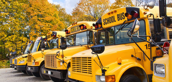 School bus transportation available
